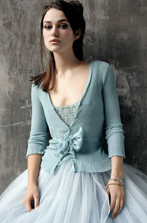 a cardigan with a bow and a tulle skirt...this is like my dream outfit
