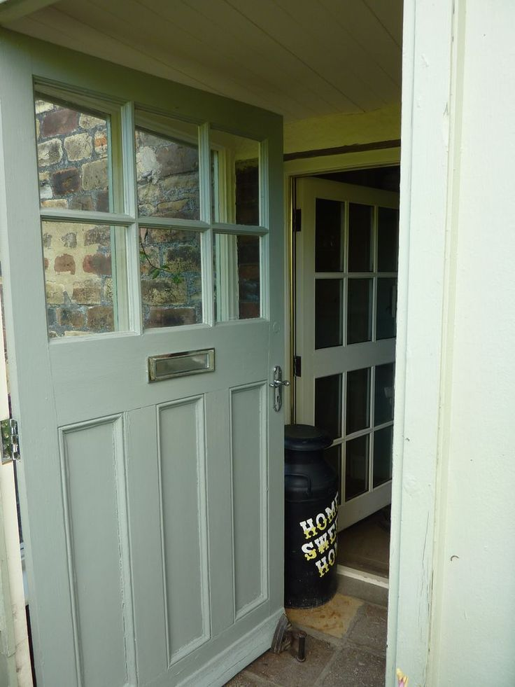 door idea for the back door from extension farrow and ball