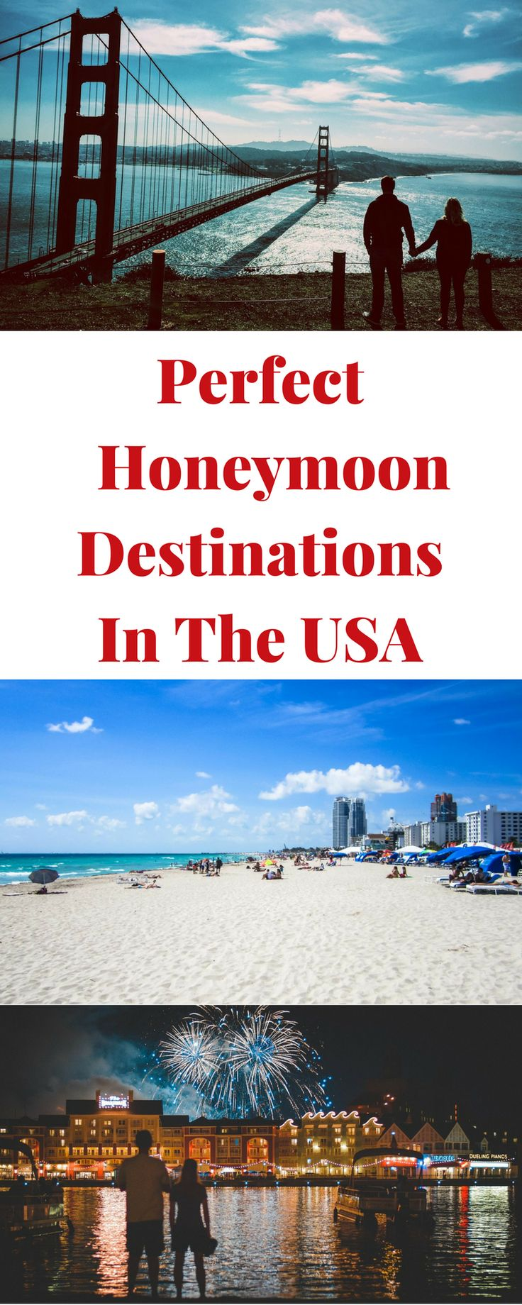 The USA is full of amazing place for a honeymoon, no need for a passport!  Check out our list of recommended destinations in the US that are perfect for a honeymoon from our experience and from top bloggers and travel agents.