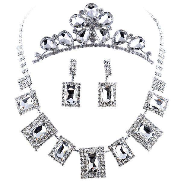 Из трех частей свадебные цепи ожерелье с ювелирных свадебный венец свадебное платье аксессуары свадебные ожерелье рич квартет
