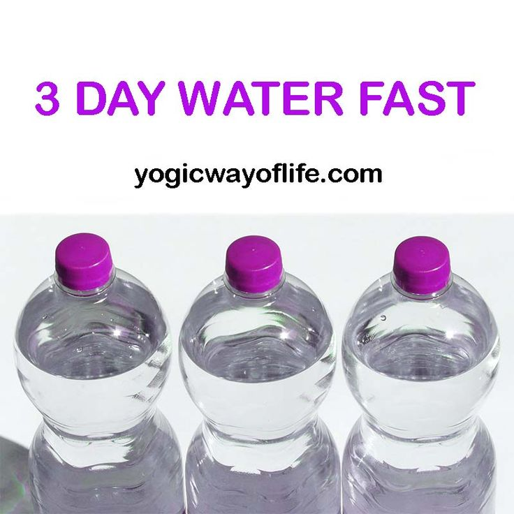 Three Day Water Fast for Health and Vitality. Lose weight by a 3 day Water fast.