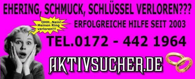 Ehering, Schmuck, Schlüssel verloren??? ...Wir helfen mit Metallsuchgeräten!!! in Hamburg