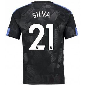 Manchester City David Silva 21 Alternativní Dres 17-18 Krátký Rukáv