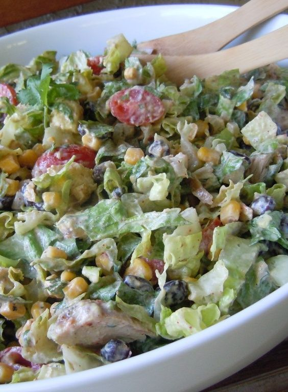 Chipotle Chicken Taco Salad! Under 250 calories for 2.5 cups! Delicious!   nutmeg notebook