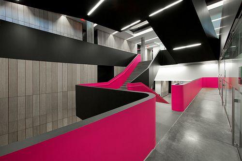 A beautiful shot of the main stairway at Rotman School. Photo taken by: Roland Shainidze