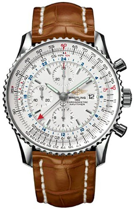 8f66dbae30c Amazon.com  Breitling Navitimer World GMT Mens Watch A2432212 G571   Breitling  Watches