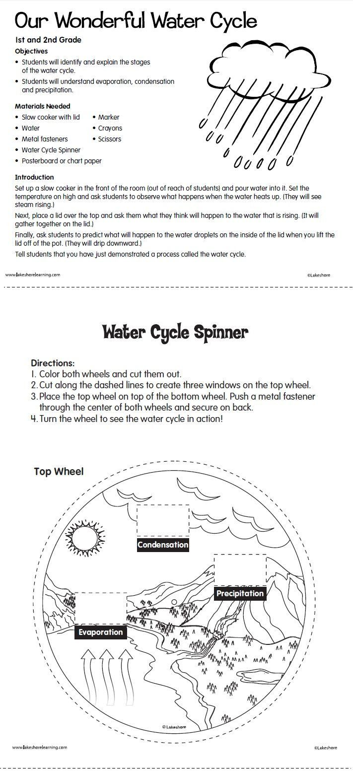 Water Cycle Worksheet Middle School   Water cycle lessons ...