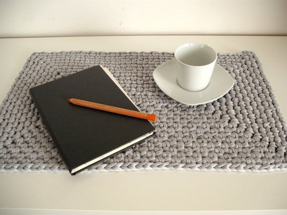 Large crochet placemat - Housewares - Table decor - crochet mat