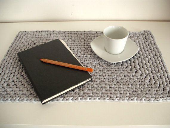 Large crochet placemat - Housewares - Table decor - crochet mat