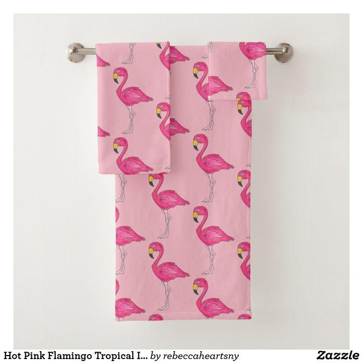 Hot Pink Flamingo Tropical Island Bird Flamingoes
