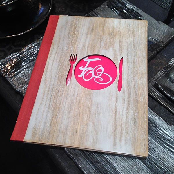 Wooden Menu Covers with laser cutting