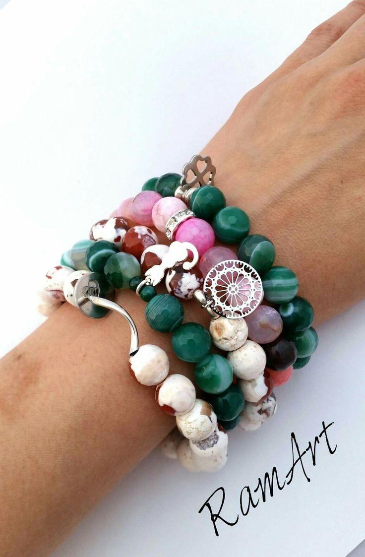 Bransoletki z kamieni naturalnych :-)  #ramart #bransoletka #bracelet #handmade #forsale #agat #silver #sterlingsilver #srebro