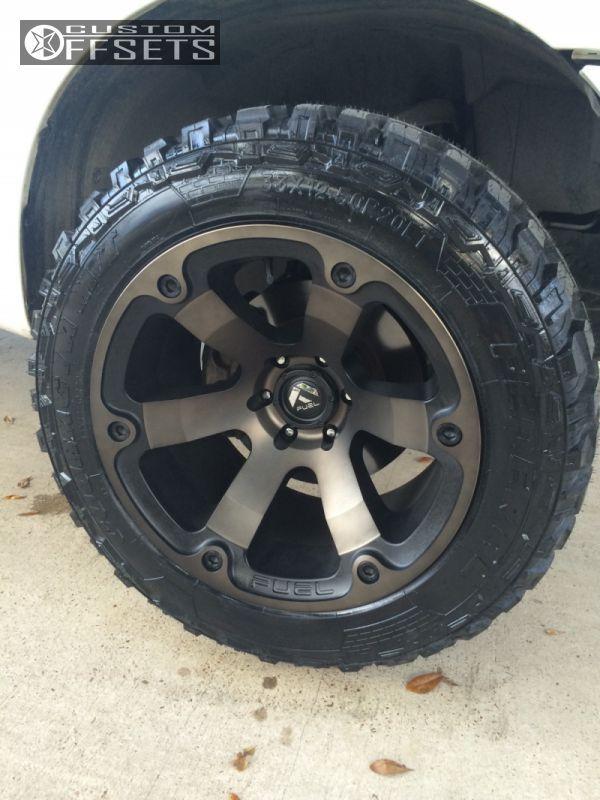 Yukon Fuel Beast wheels | 347 8 2012 titan nissan leveling kit fuel beast gunmetal aggressive 1 ...