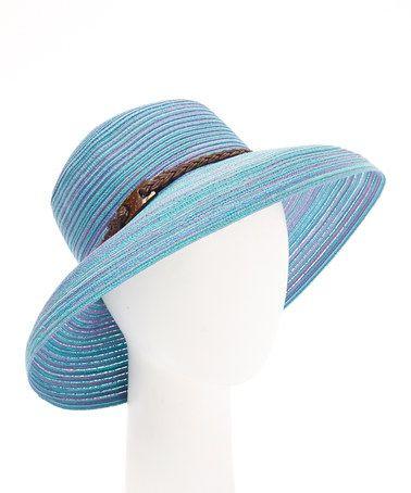 Look at this #zulilyfind! Blue & Purple Stripe Belted Sunhat #zulilyfinds