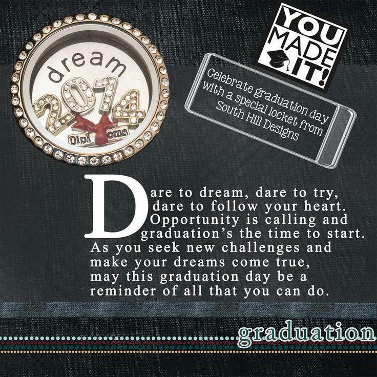 Grad is just around the corner! Create your own personalized locket for your Grad!  www.facebook.com/floatingcharms.net www.southhilldesigns.com/floatingcharms.net www.floatingcharms.net