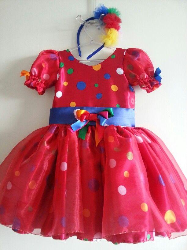 Vestido Palhacinha Vermelho