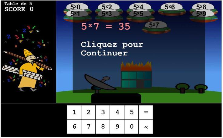 Les 25 meilleures id es de la cat gorie jeux sur les - Jeu en ligne table de multiplication ...