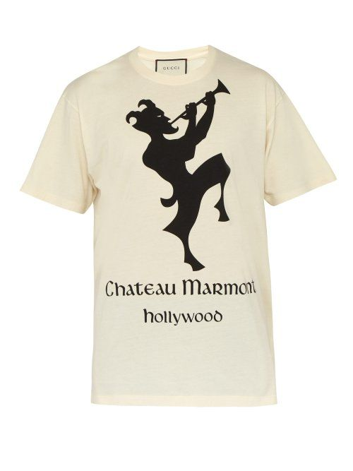 5c65c0c75c1ea8 GUCCI GUCCI - CHATEAU MARMONT COTTON T SHIRT - MENS - WHITE MULTI. #gucci  #cloth