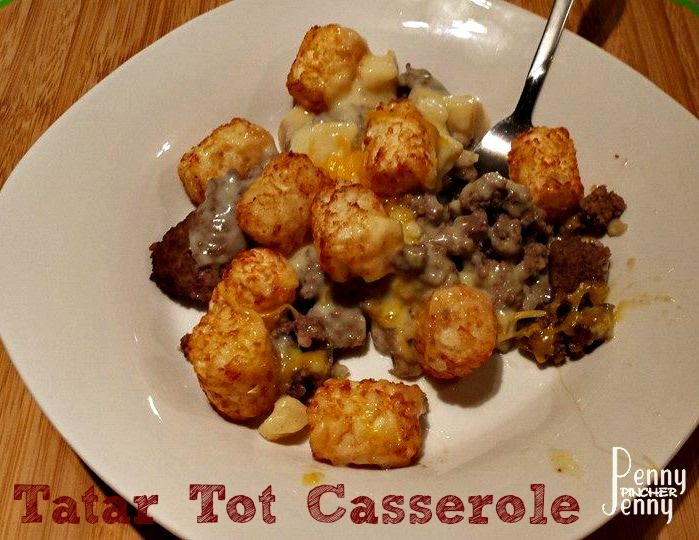 Tater tot casserole, Tater tots and Casserole recipes on Pinterest