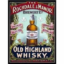 Old Highland whisky poster