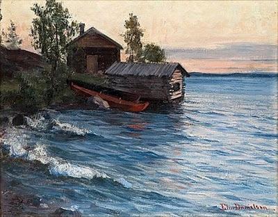 Elin Kleopatra Danielson-Gambogi (Finnish painter, 1861-1919) Summer Evening in the Archipelago
