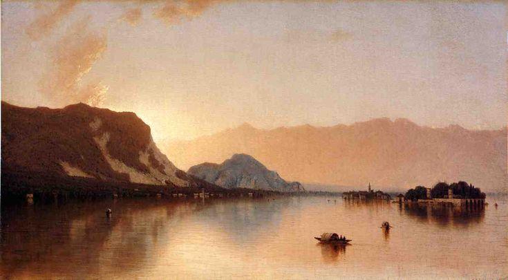 """""""Isola Bella in Lago Maggiore,"""" Sanford Robinson Gifford, 1871, oil on canvas, 20.25 x 36"""", Metropolitan Museum of Art."""