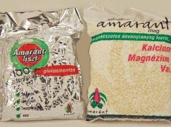 amaránt liszt: Az amarántot már 8000 éve gabonaként termesztik, bár valójában nem tartozik a gabonafélék közé, ún. pszeudogabona. Az aztékok alapvető élelmiszere volt. Nem tartalmaz a búzafélékre jellemző búzacsíra agglutinint (WGA-t). http://aprosef.hu/hozzavalo/amarant_liszt