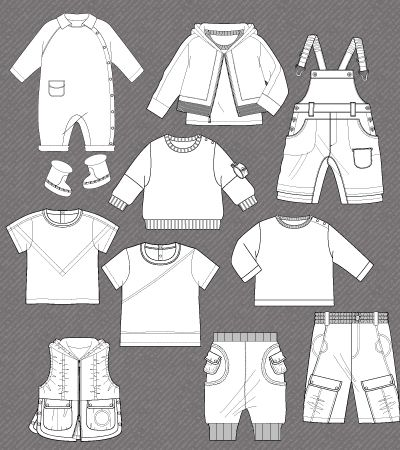 isolated fashion flats for baby boy € 10 00 set of isolated fashion ...