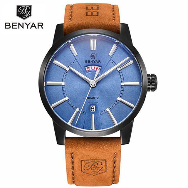 BENYAR Men Watches Top Brand Luxury Male Business Quartz Watch Men's Military Sports Waterproof Clock Man Relogio Masculino 2016