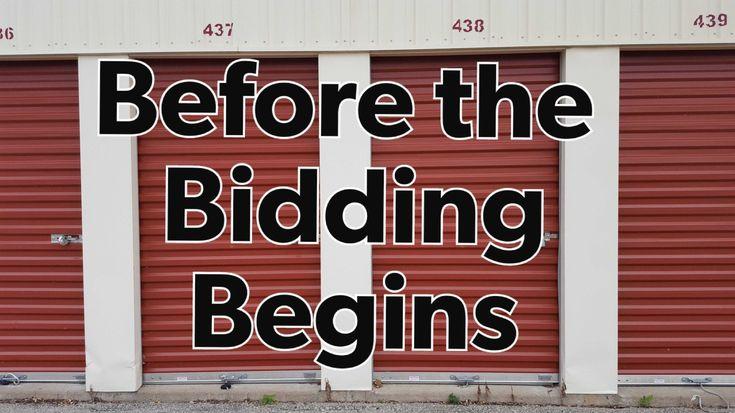 before you bid on a storage unit / before bidding on a storage locker / before bidding on an auction