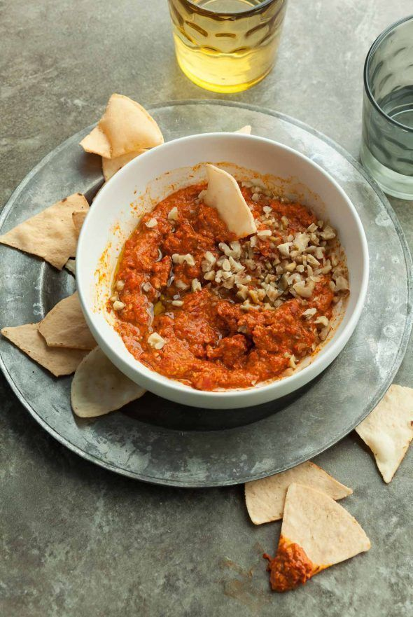 Roasted Red Pepper And Walnut Dip Paleo Vegan