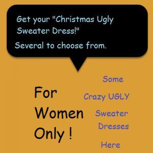 #christmas ugly sweater dress