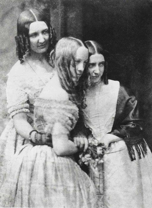 DAVID OCTAVIUS HILL and ROBERT ADAMSON. The Misses Binny and Miss Monro, c. 1845.