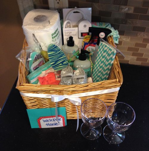 New Home Gifts Gift Baskets Gifts Com: 9 Best Welcome Home Baskets Images On Pinterest