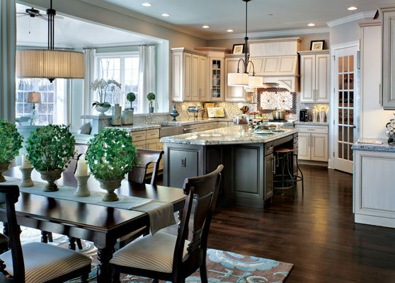 Toll Brothers Henley Manor - Westchester Estates at Wilson Park, Tarrytown, New York: Beautiful Kitchens, Brother Kitchens, Dreams Kitchens, Kitchens Design, Dark Cabinets, Kitchens Ideas, House Color, Toll Brother, Open Kitchens