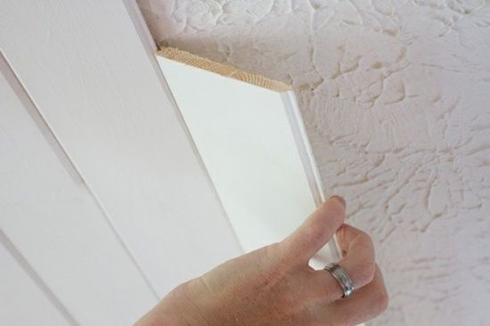 Popcorn Ceiling To Plank Ceiling | The Lettered Cottage. For a pack of six, 8′ long planks, at Lowe's: Eleven dollars. Each pack of planks covers 14 square feet. In case our next home has a bad ceiling.