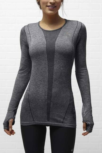 SHOP THE TREND: WHAT TO WEAR TO THE GYM  THE LONG-SLEEVE  Nike Dri-Fit Long-Sleeve Running Shirt, $ 70; nike.com