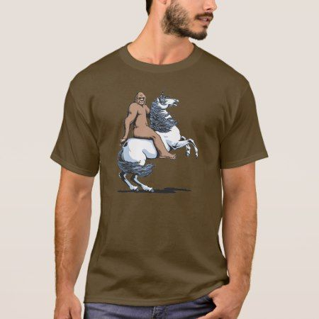 Bigfoot Riding a Unicorn T-Shirt - tap to personalize and get yours