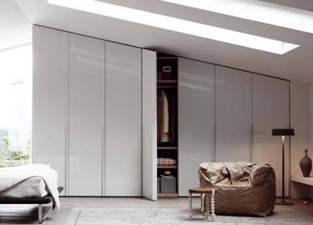 modern bedroom built in cupboards - Google Search