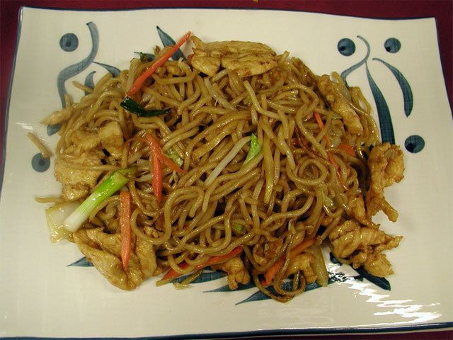 Chicken Lo Mein - really good. I didn't have sesame oil - there were ...