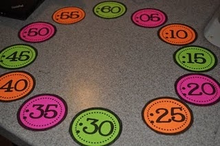 numbers to go around the clock- print on cute paper