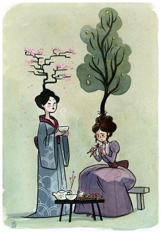 Señoras: Oriente y Occidente por Vera Brosgol (éste no es el título)