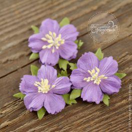 Цветочки плоские фиолетовые 5 шт