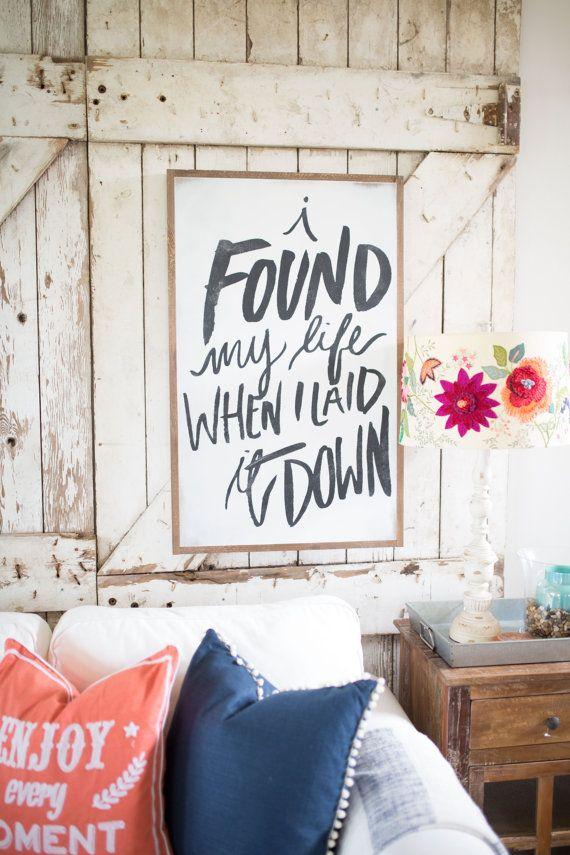 I Found My Life by HouseofBelongingLLC on Etsy