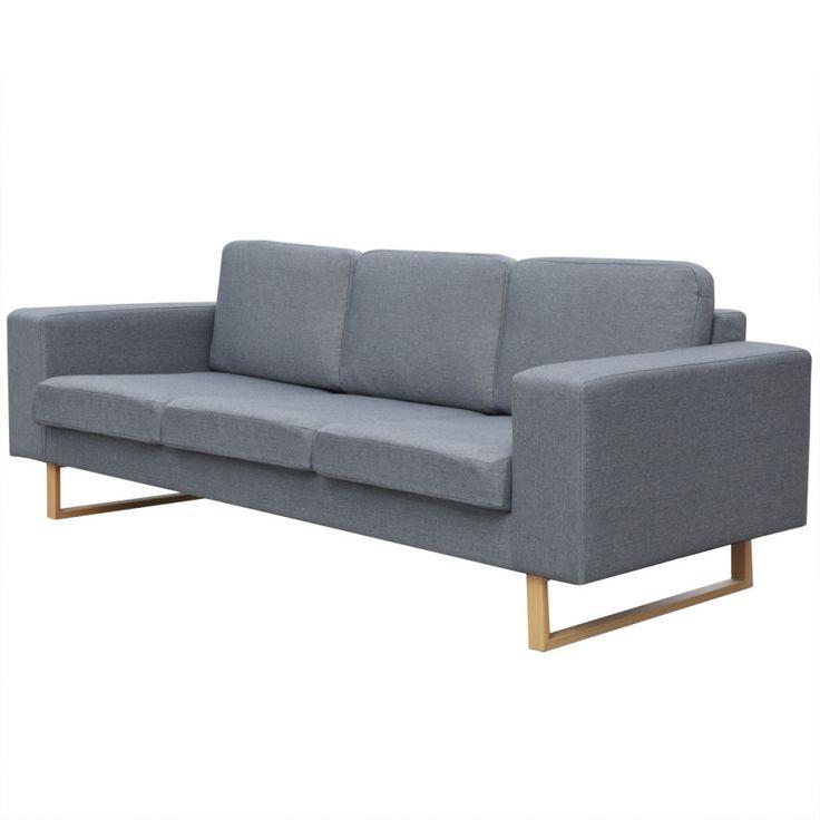 Epic Dieses g nstige Stoffsofa mit Holzbeinen von vidaXL besticht durch schn rkellose Einfachheit