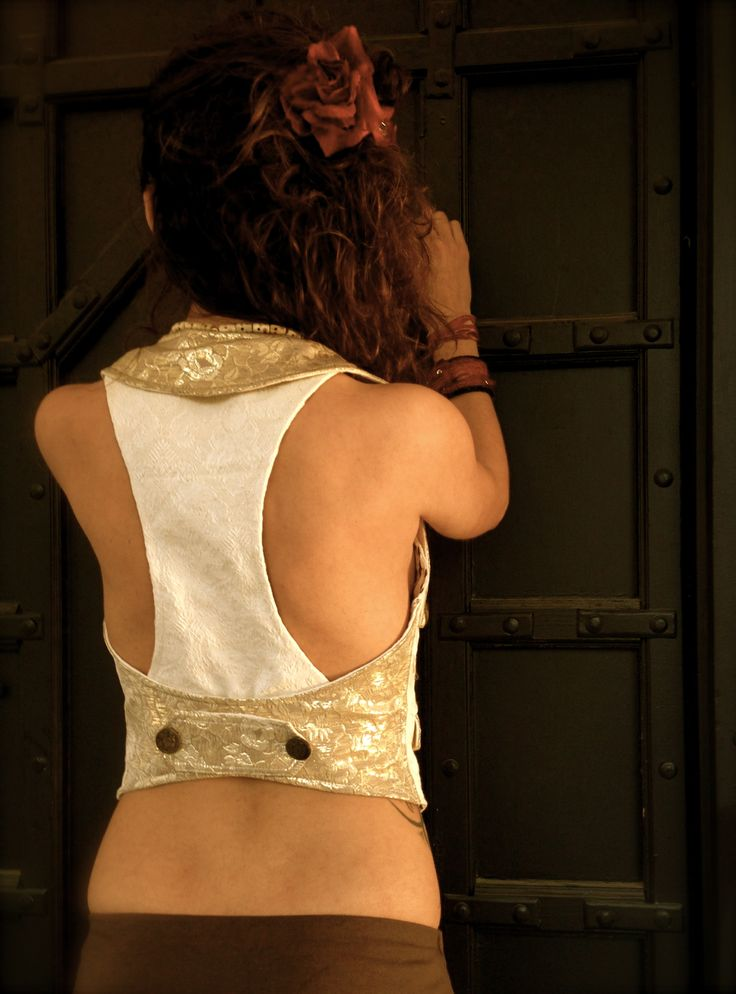 Victorian Ladies Vest.Circus De Attachable Frack.Seampunk Ladies - Vests