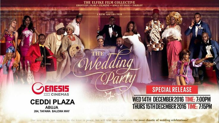 #MovieAlert  @weddingpartymovie -  It is officially 3 days till The #WeddingPartyMovie special movie screening & 5 days till it starts showing at the cinemas!!! Let the countdown begin. You can catch the wedding party in cinemas nationwide from the 16th of December!!! #celebratingafricanculture #lagos #cinema #release #December16  #Genesisexperience #genesiscinemas