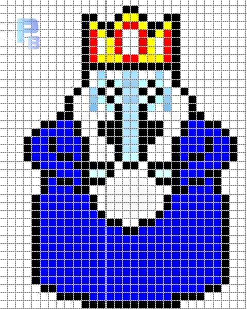 Ice King Adventure Time perler pattern - Patrones Beads / Plantillas para Hama