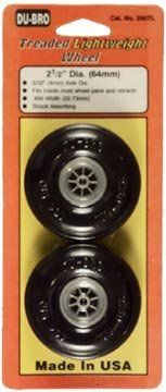 2 1/2 TREADED LIGHT WEIGHT WHEELS by Dubro. $8.90. 2 1/2 TREADED LIGHT WEIGHT WHEELS