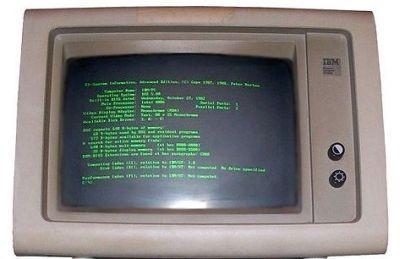 Obsolete IBM PC monitor